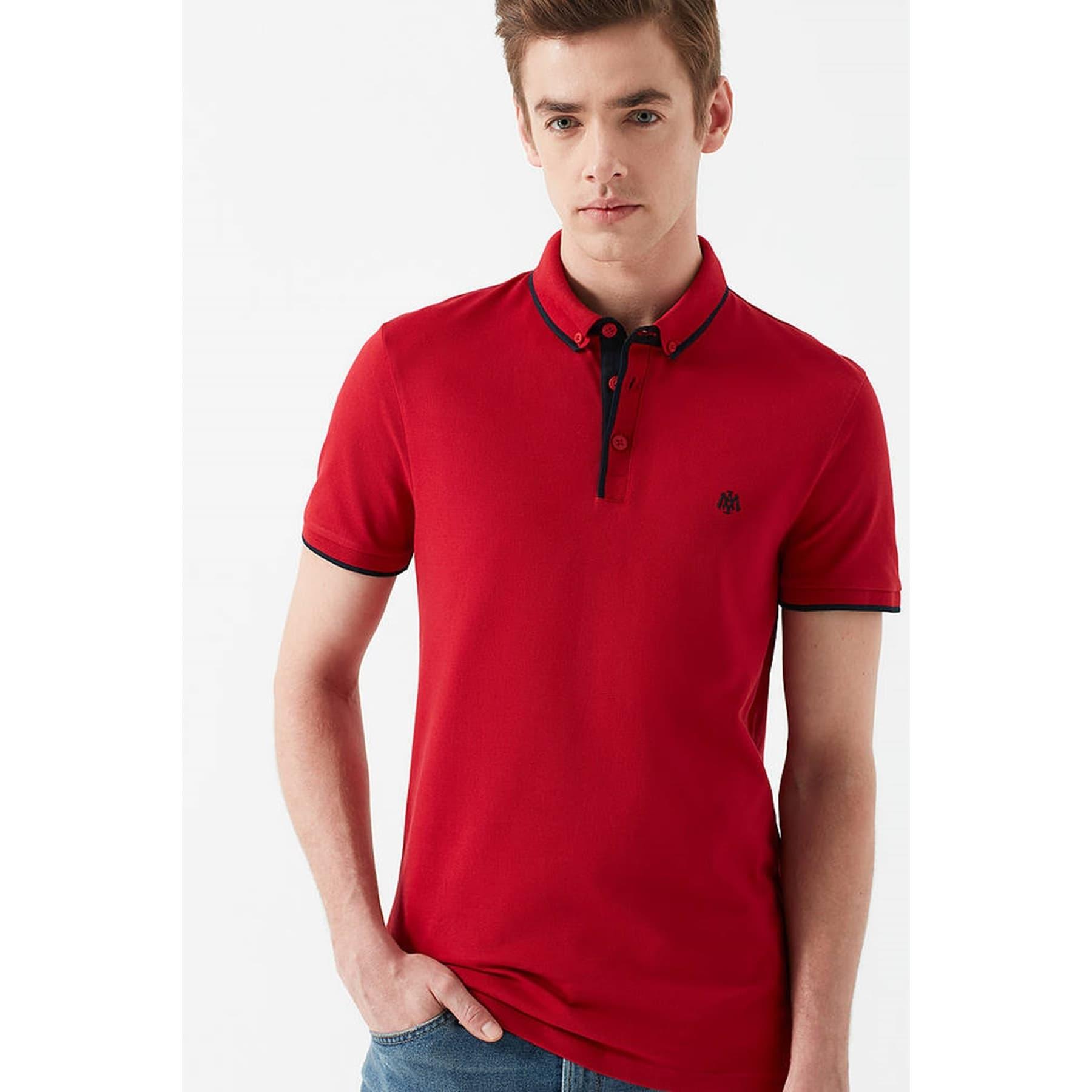 Erkek Kırmızı Polo Yaka Tişört (062373-28441)