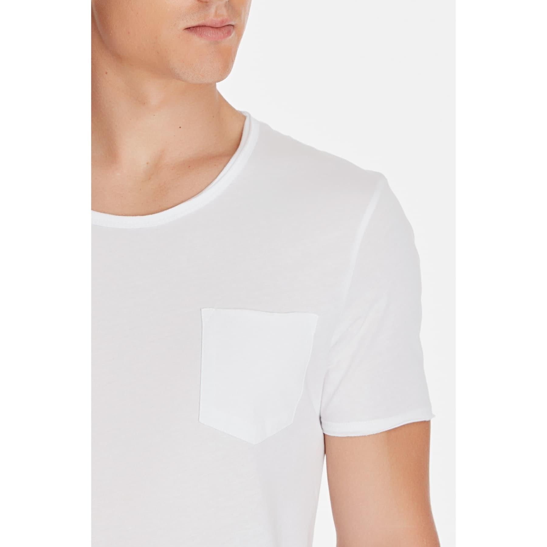Mavi Erkek Basic Düz Beyaz Tişört