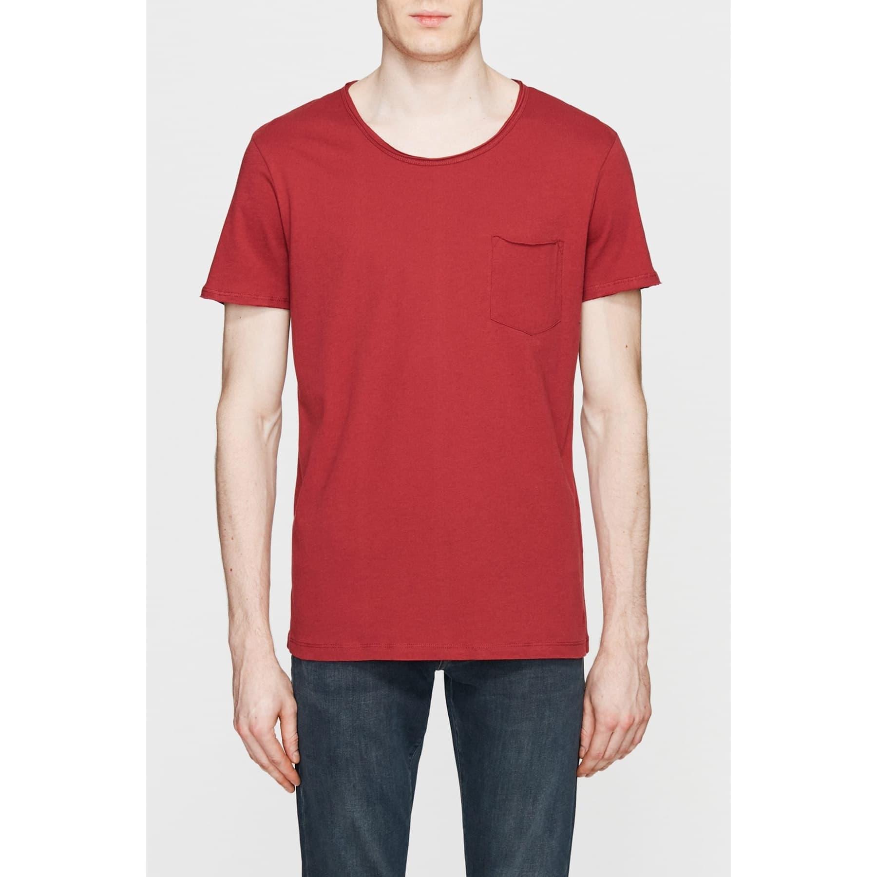 Mavi Erkek Yanık Kırmızı Basic Tişört