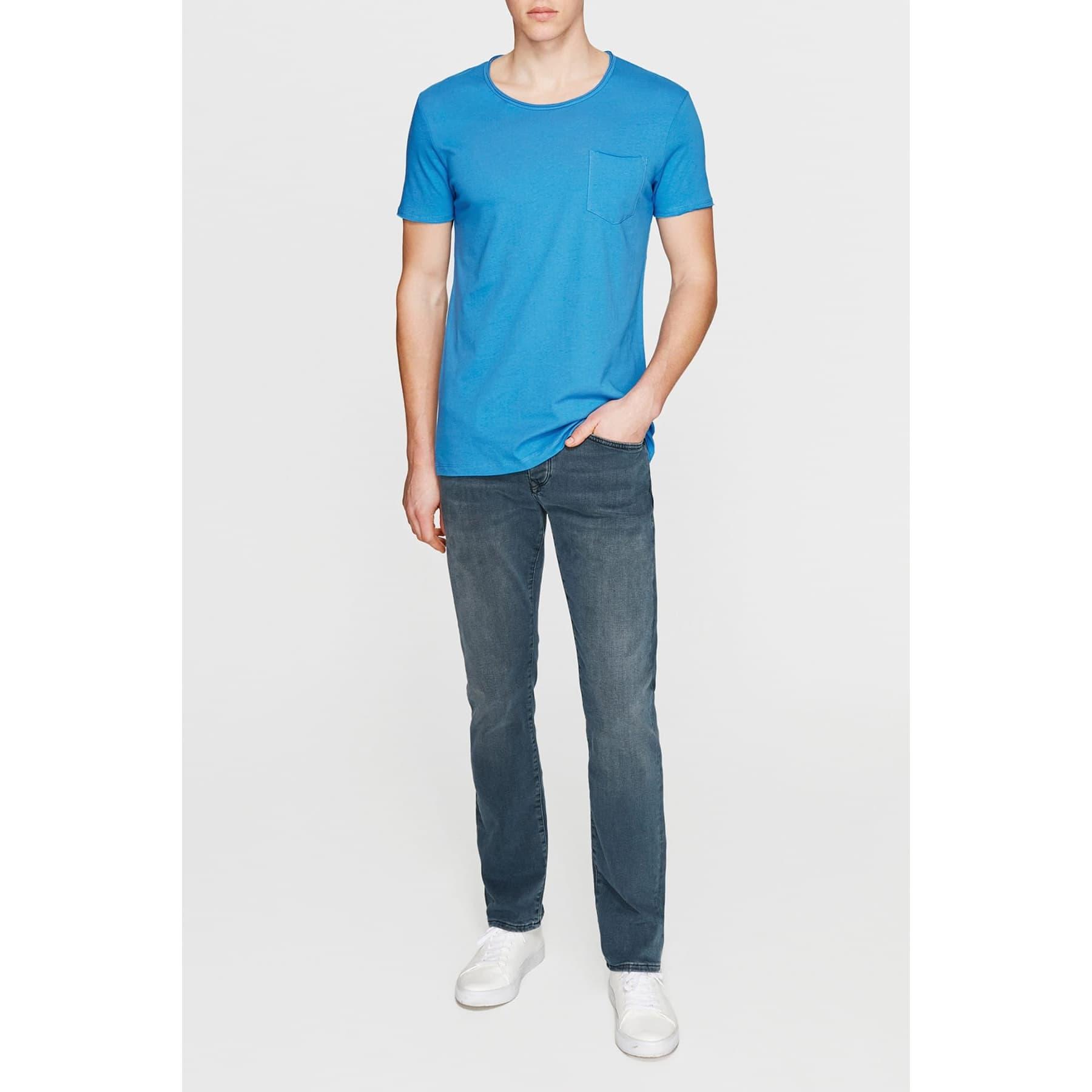 Mavi Erkek Soluk Saks Mavisi Basic Tişört