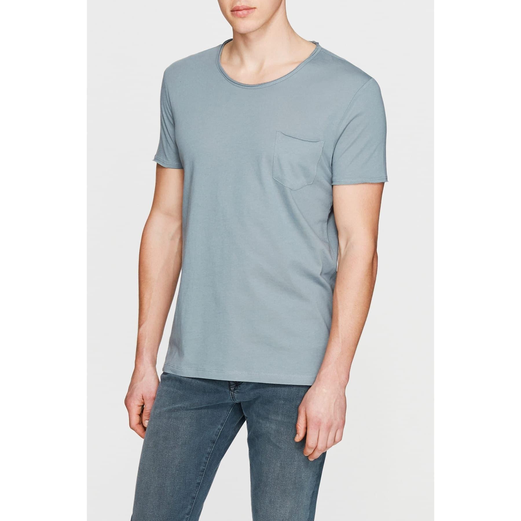 Mavi Erkek Yosun Yeşili Basic Tişört