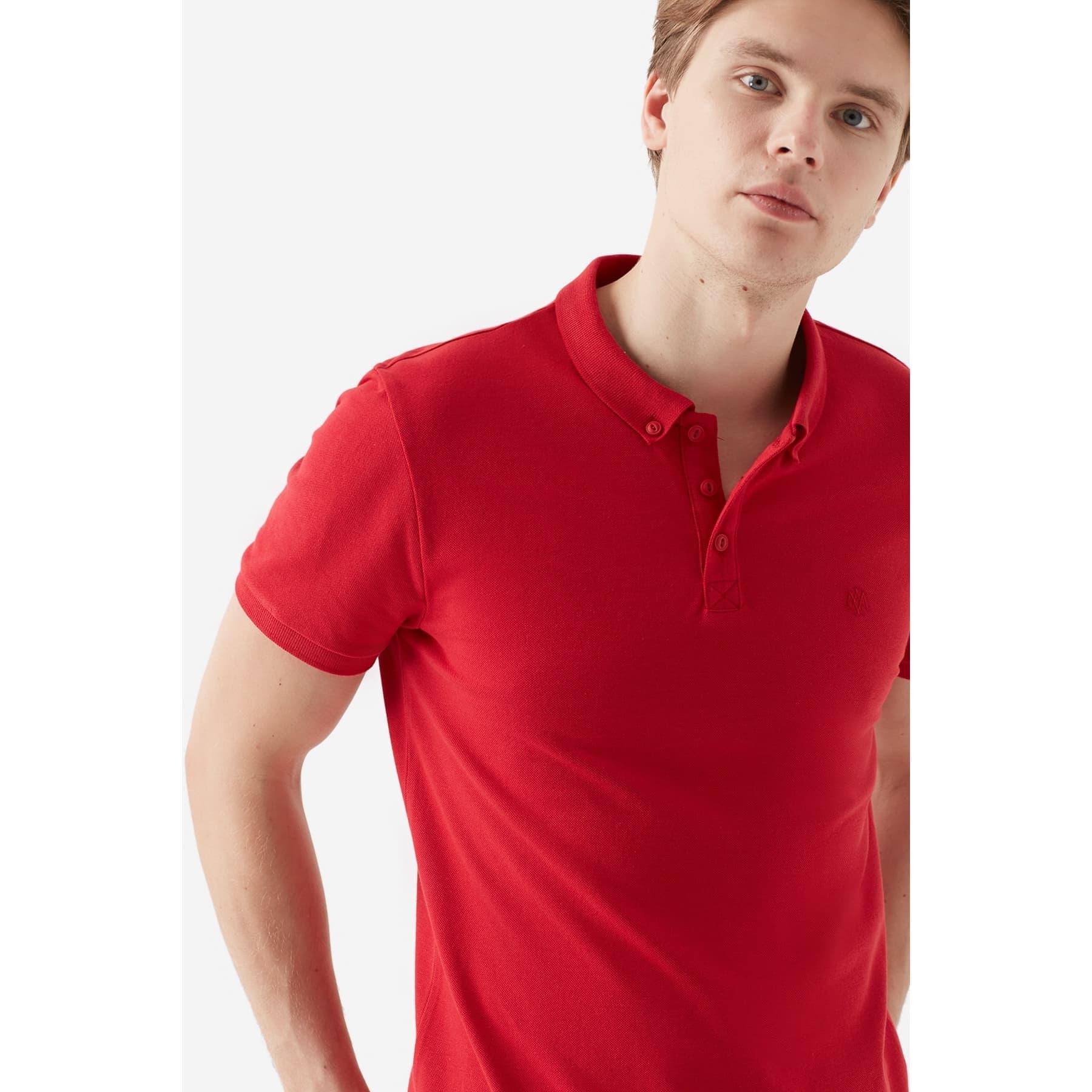 Mavi Jeans Erkek Kırmızı Polo Tişört