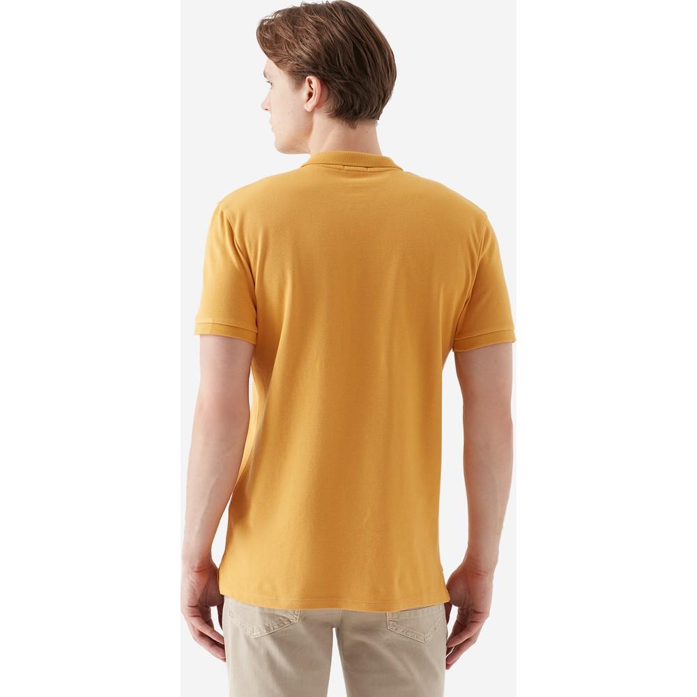Erkek Polo Yaka Hardal Tişört (063247-30719)