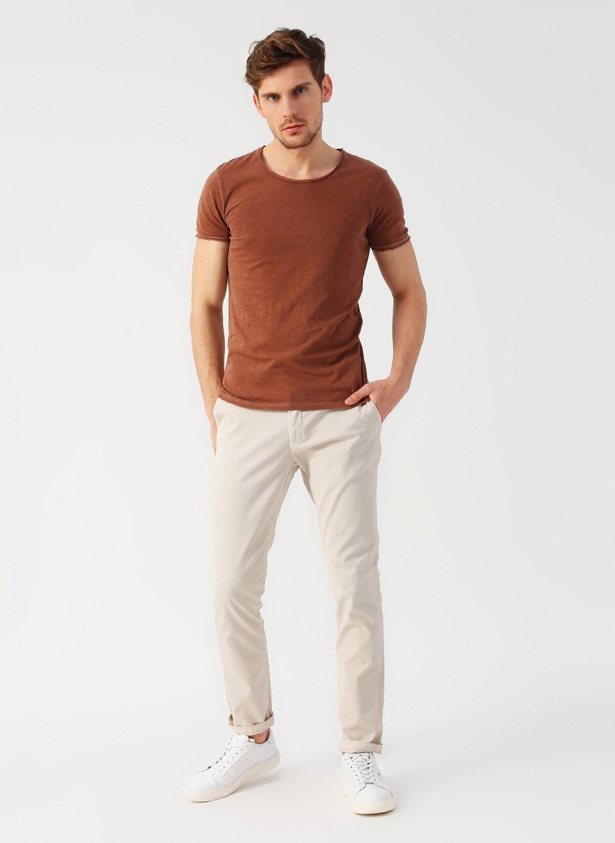 Tişört Açık Kahverengi