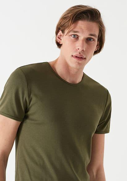 Mavi Jeans Koyu Haki Erkek Basic Tişört