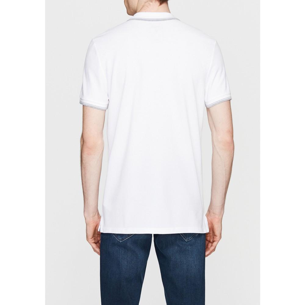 Polo Yaka Erkek Beyaz Tişört (064164-27879)