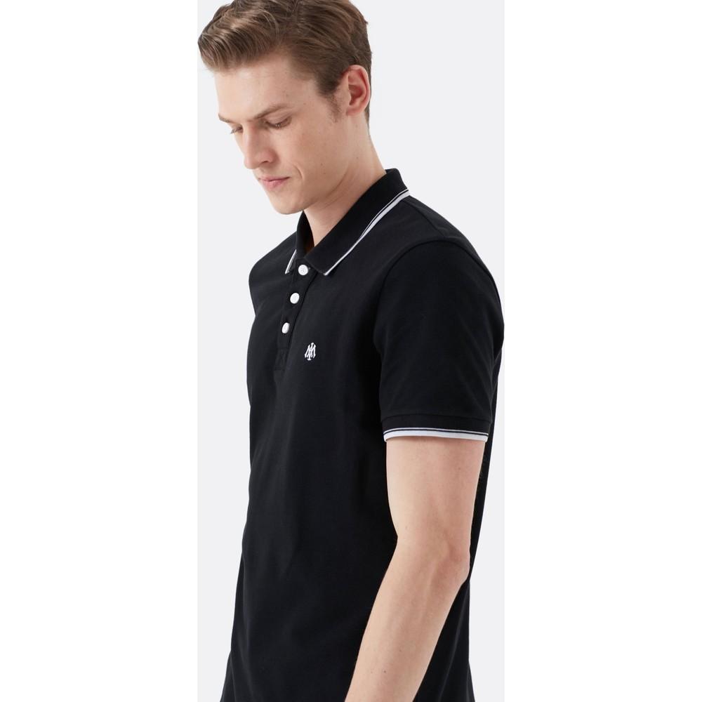 Mavi Jeans Polo Yaka Erkek Siyah Tişört (064164-900)