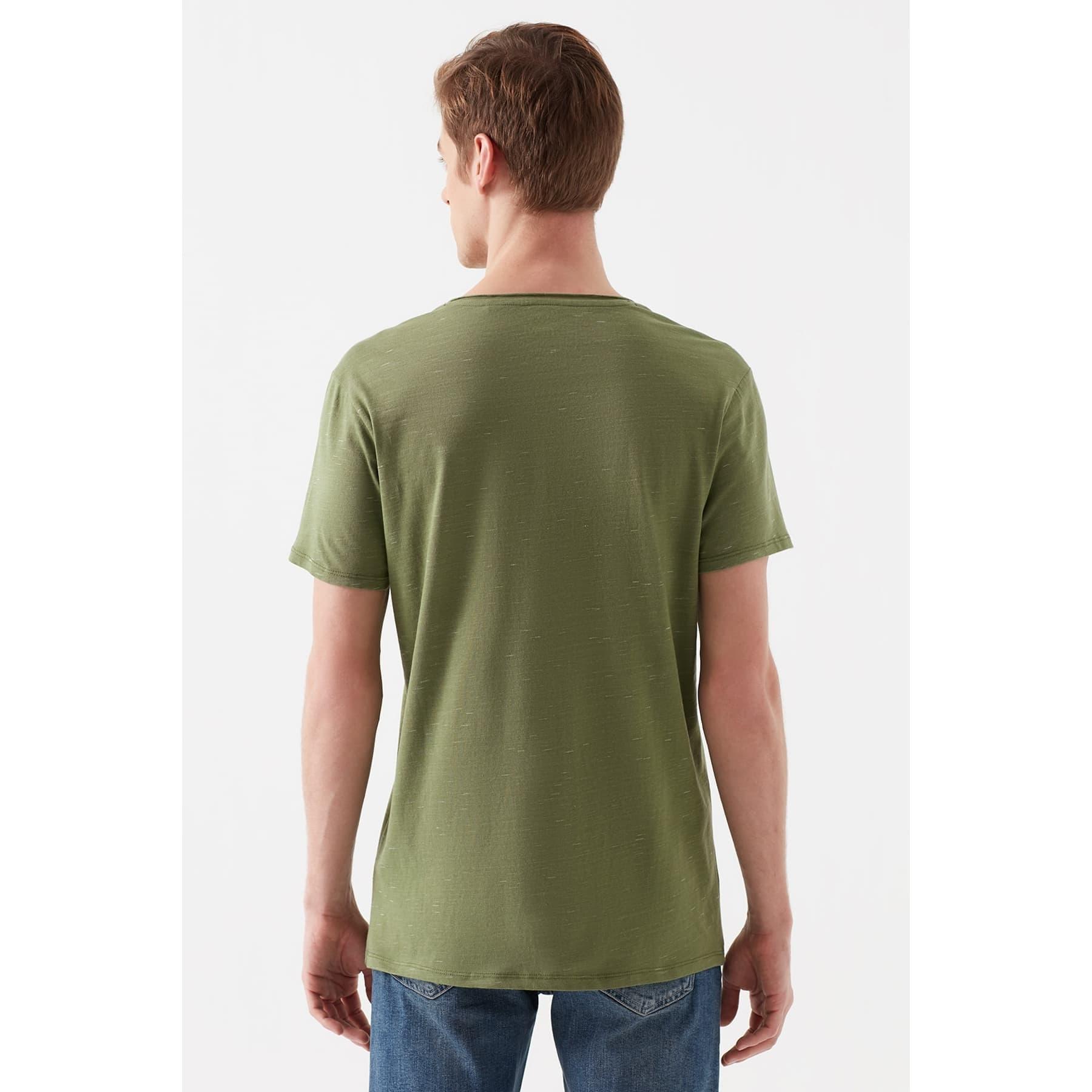 Mavi Jeans Erkek Yeşil Basic Tişört