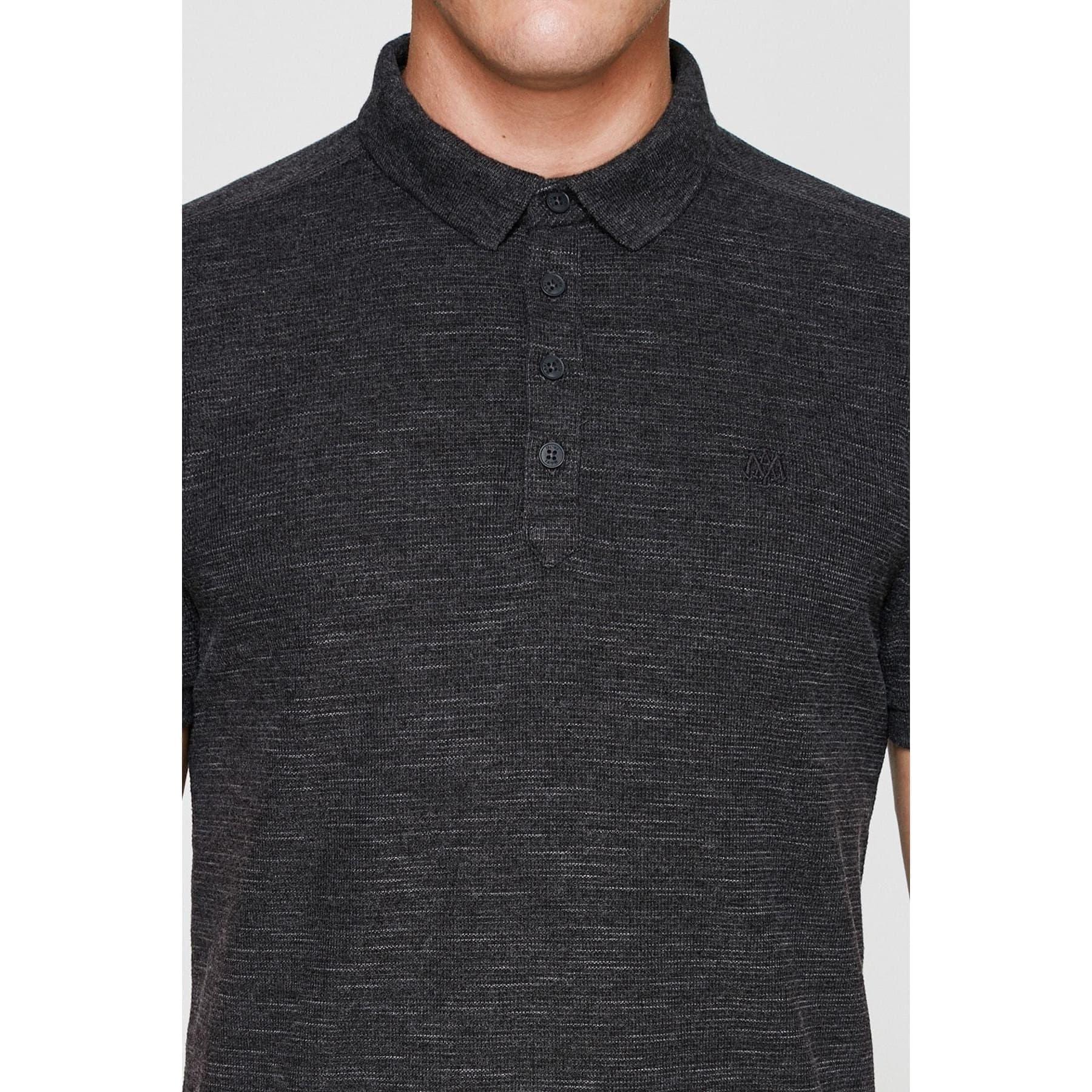 Polo Tişört Koyu Gri Melanj