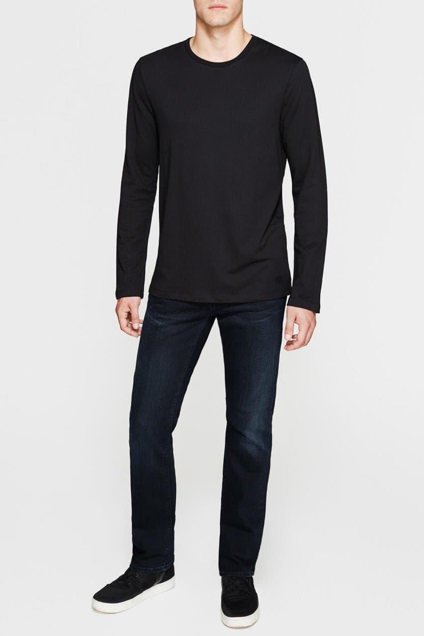 Mavi Jeans Uzun Kollu Basic Erkek Siyah Sweatshirt