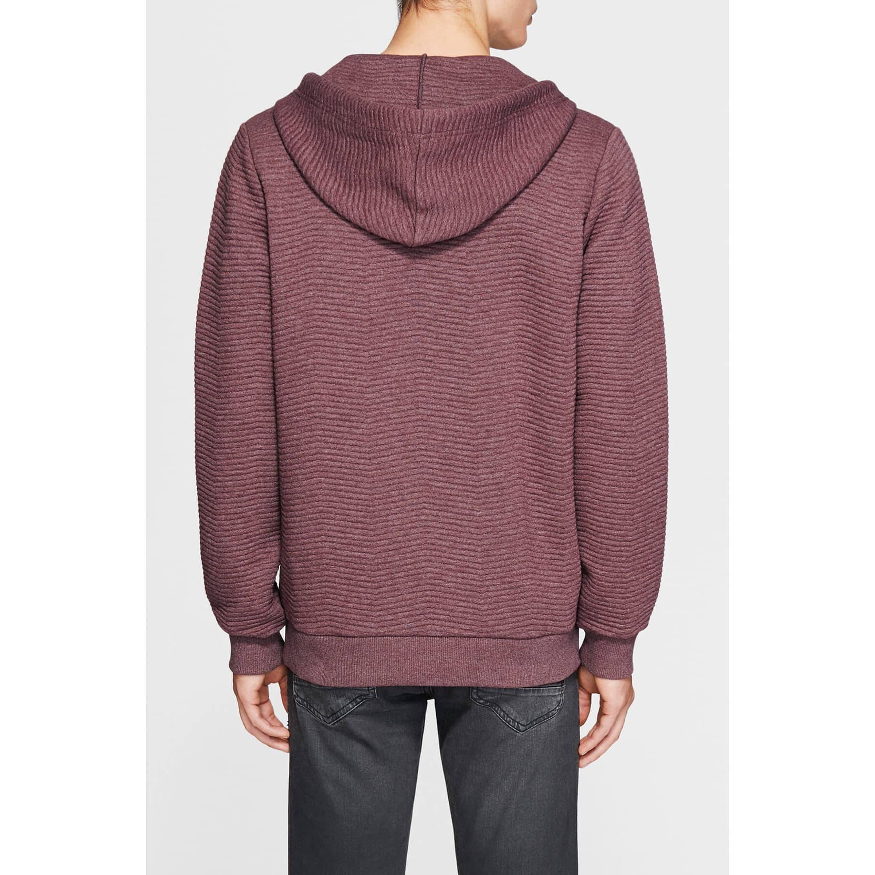Mavi Jeans Zip Up Erkek Bordo Sweatshirt