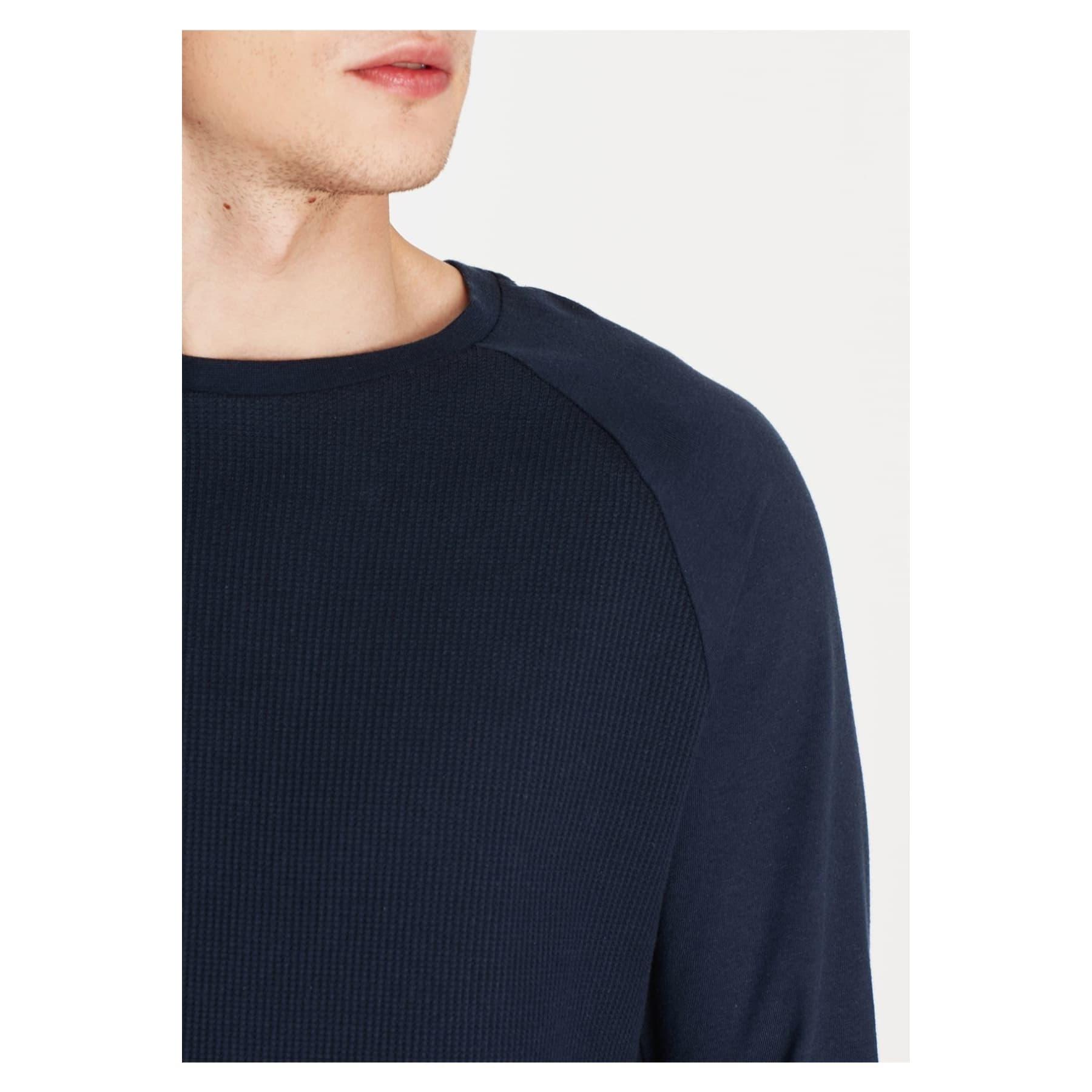 Uzun Kollu Erkek Lacivert Tişört (065195-26828)