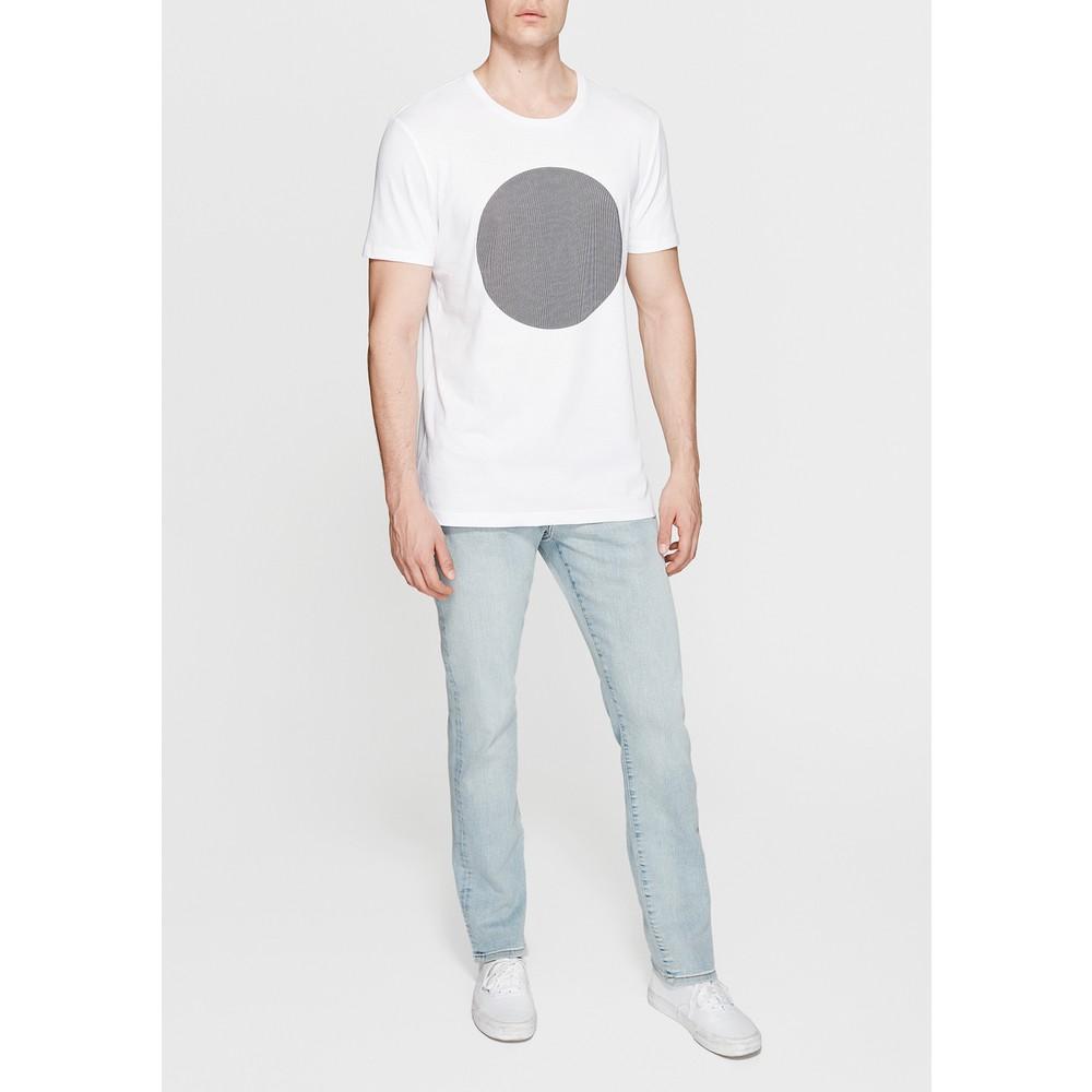Mavi Jeans Logo Baskılı Erkek Beyaz Tişört