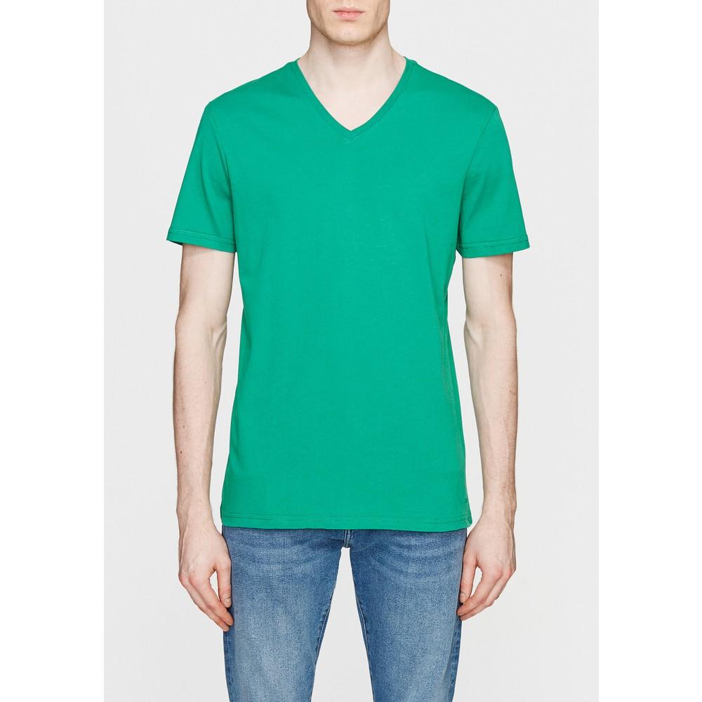 V Yaka Tişört Çam Yeşili