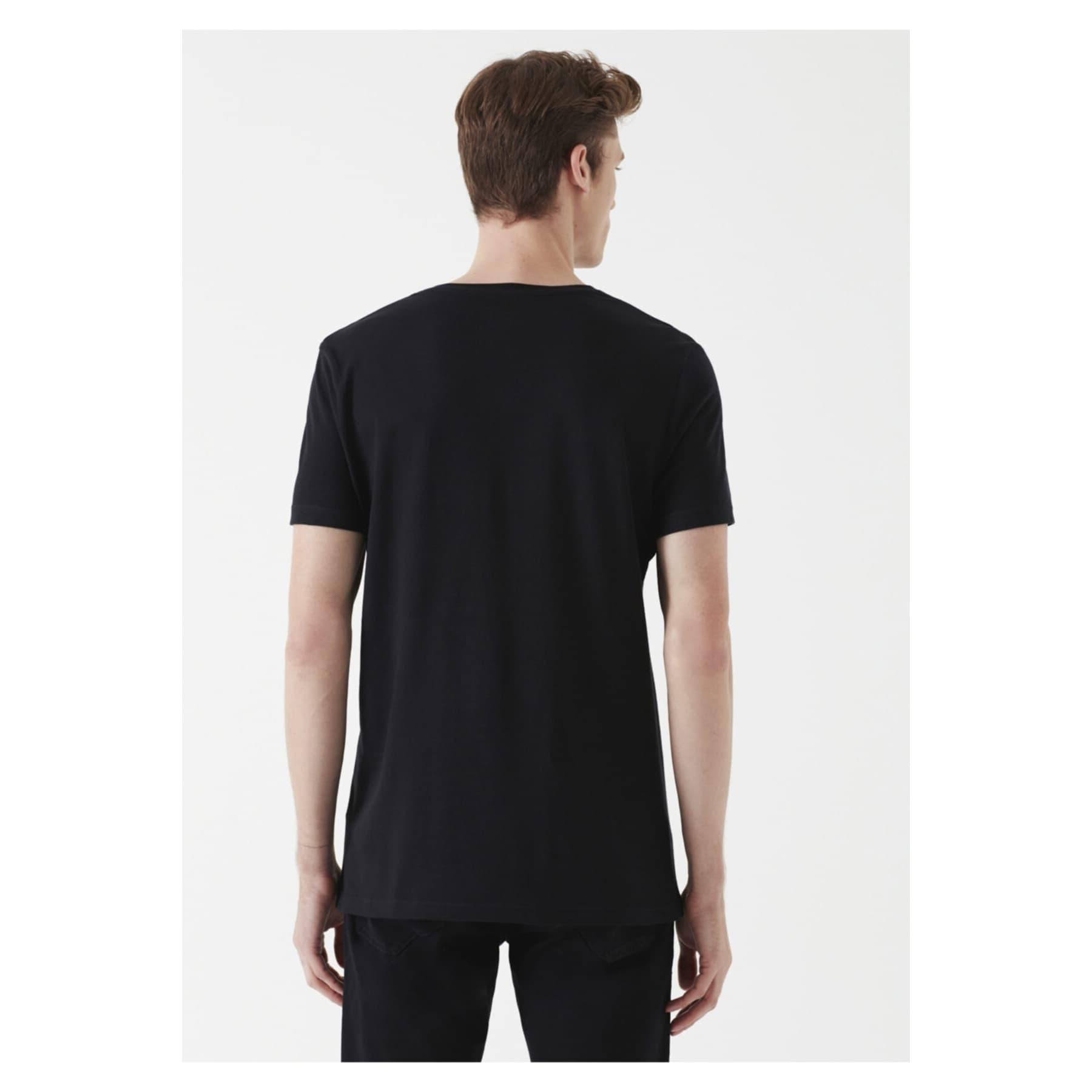 Mavi Jeans V Yaka Erkek Siyah Basic Tişört
