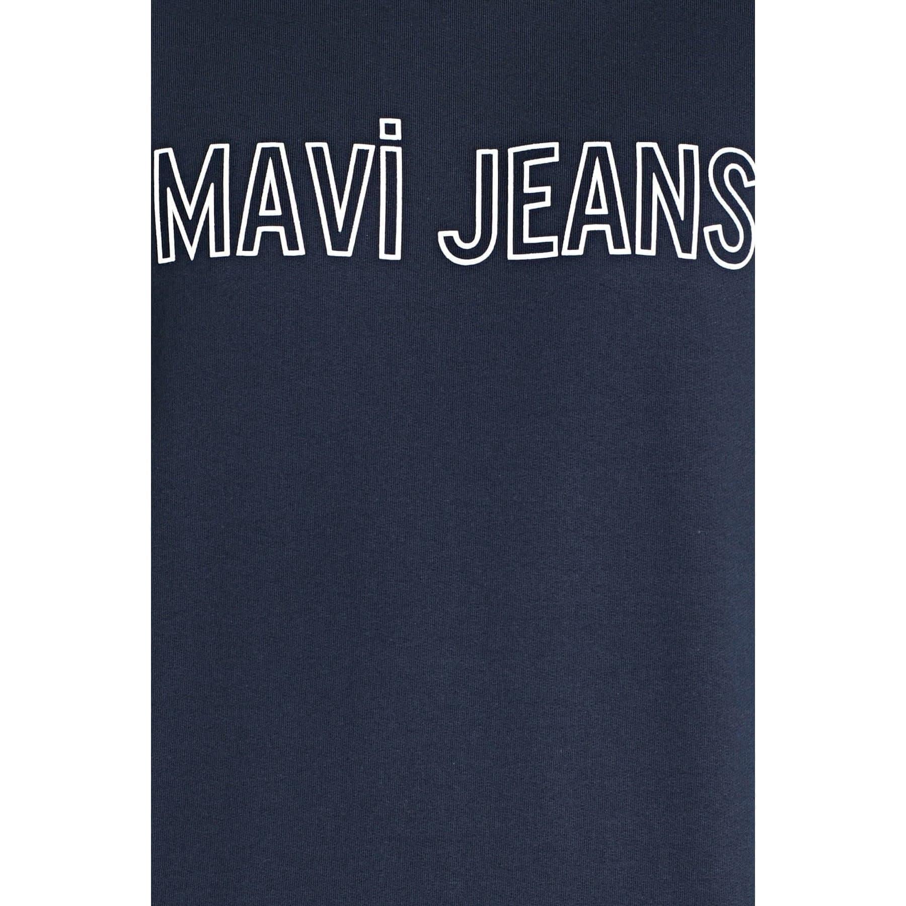 Mavi Jeans Logo Baskılı Erkek Lacivert Sweatshirt