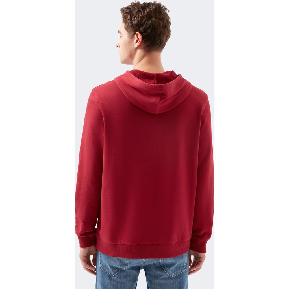 Mavi Jeans Mühür Baskılı Erkek Kırmızı Sweatshirt