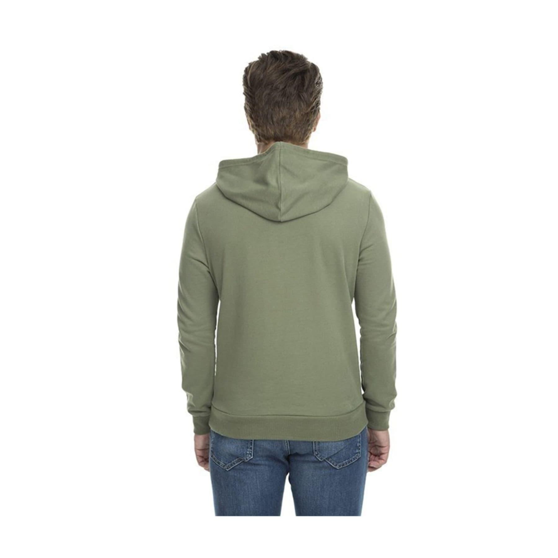Kapüşonlu Erkek Yeşil Sweatshirt (065779-28524)
