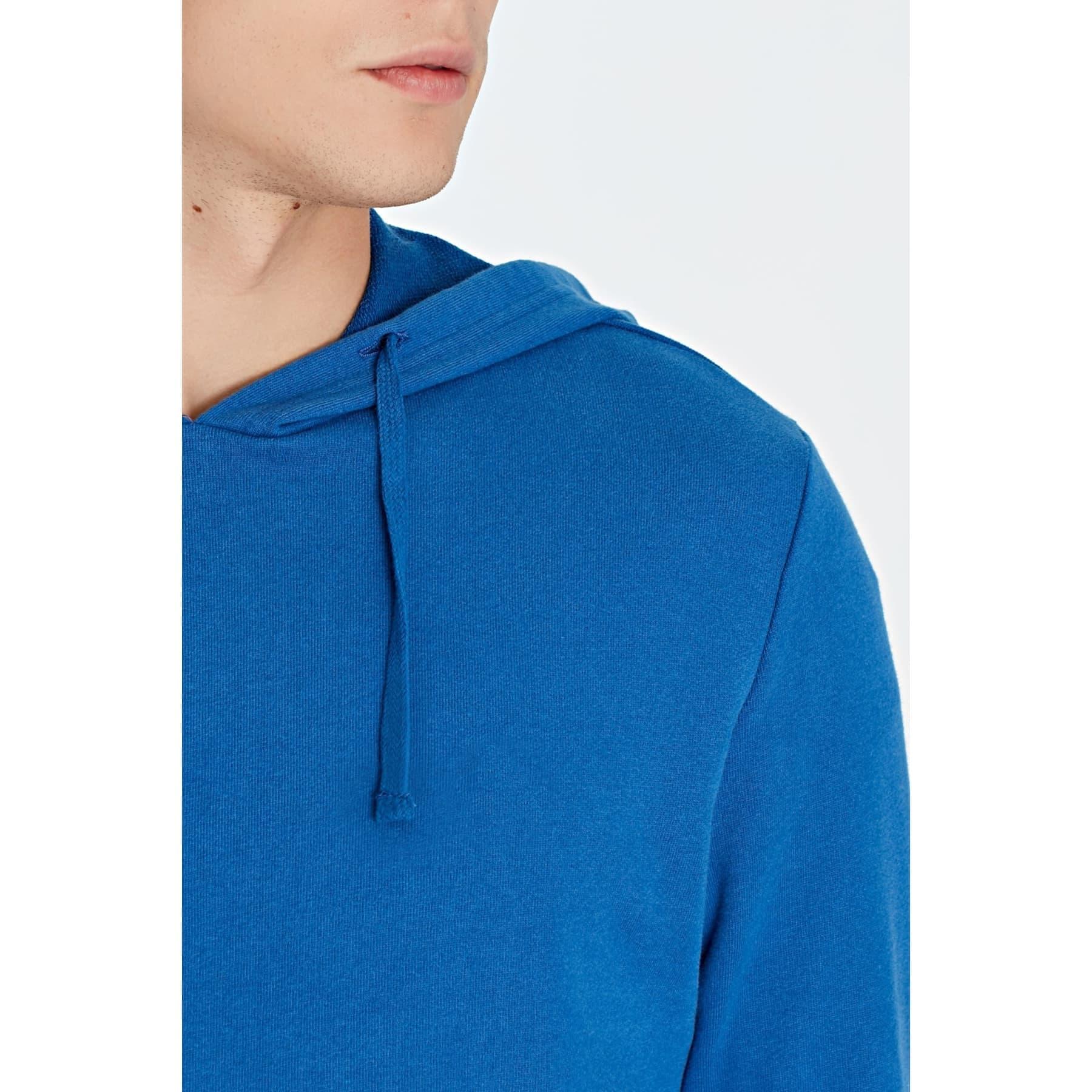 Kapüşonlu Erkek Mavi Sweatshirt (065779-29835)