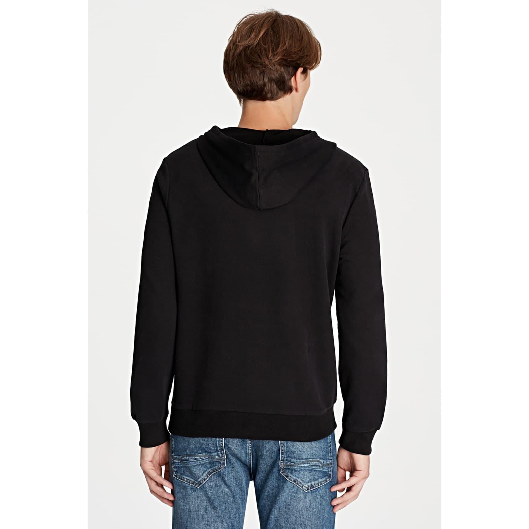 Mavi Jeans Erkek Siyah Kapüşonlu Sweatshirt