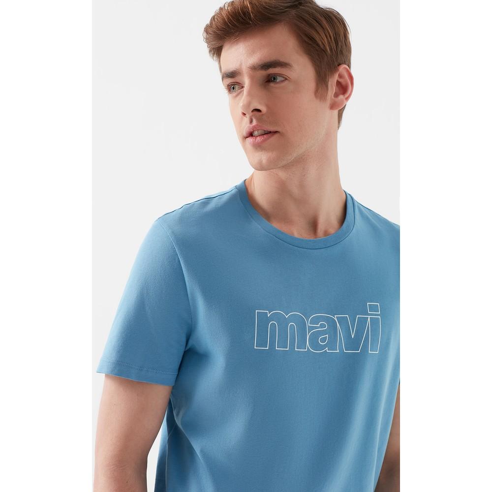 Mavi Logo Tişört Canlı Mavi