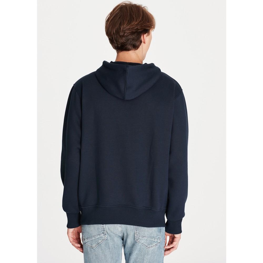 Mavi Logolu Kapüşonlu Erkek Lacivert Sweatshirt