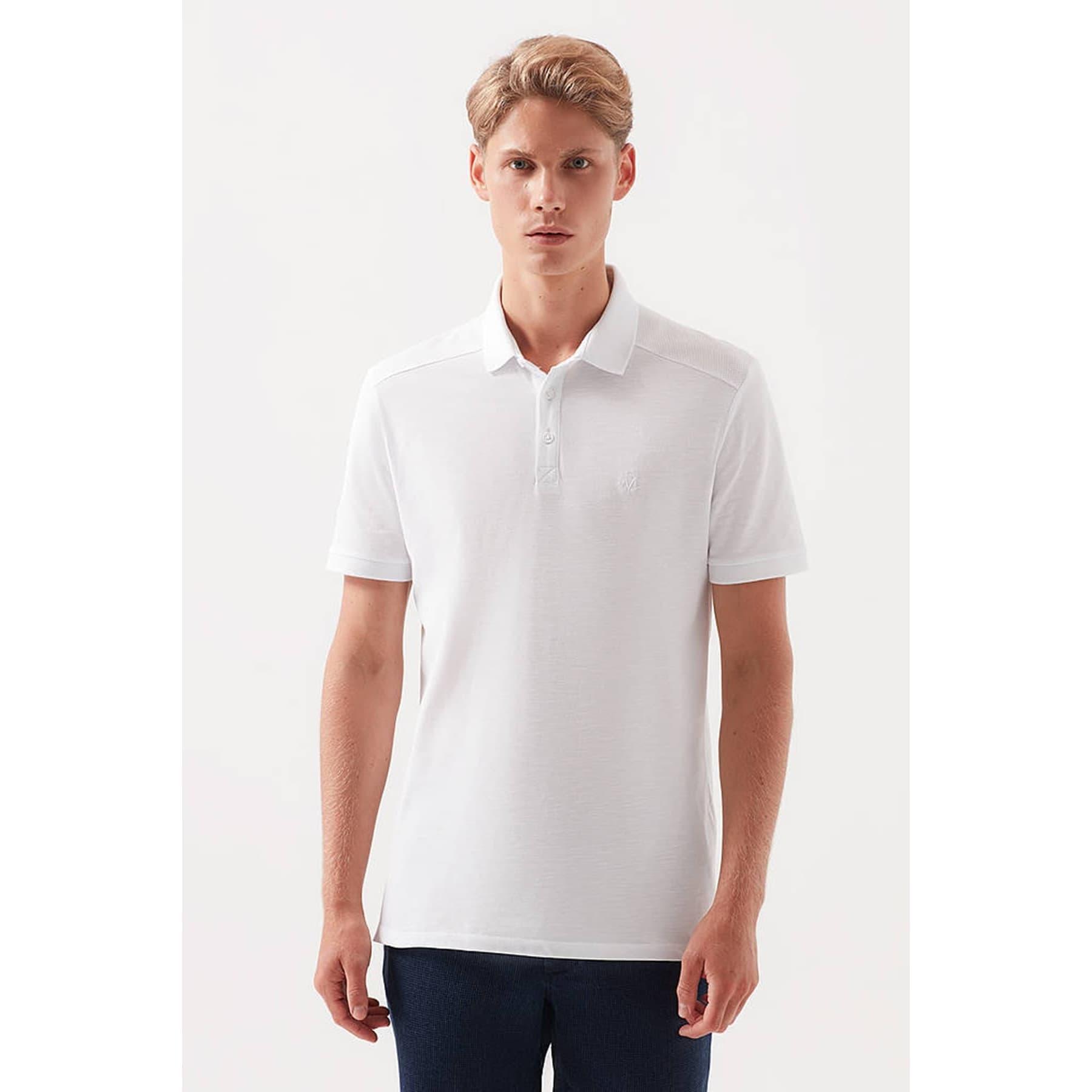 Mavi Jeans Erkek Beyaz Polo Tişört