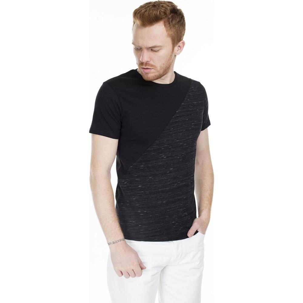 Parçali Tişört Siyah