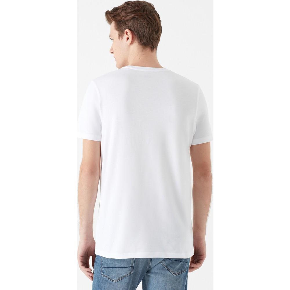 Create Baskılı Erkek Beyaz Tişört