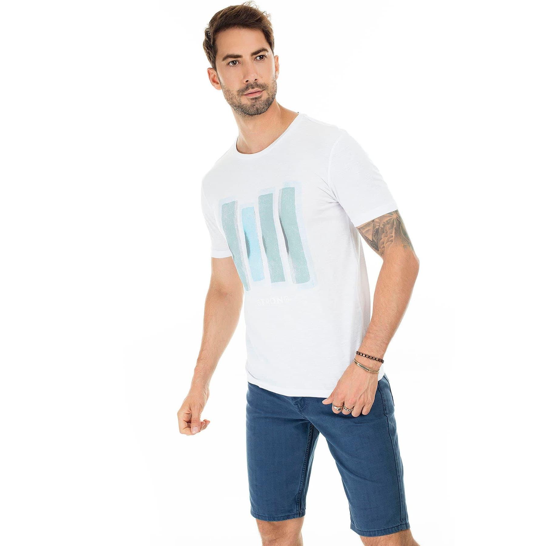 Mavi Jeans Dikdörtgen Baskılı Erkek Tişört