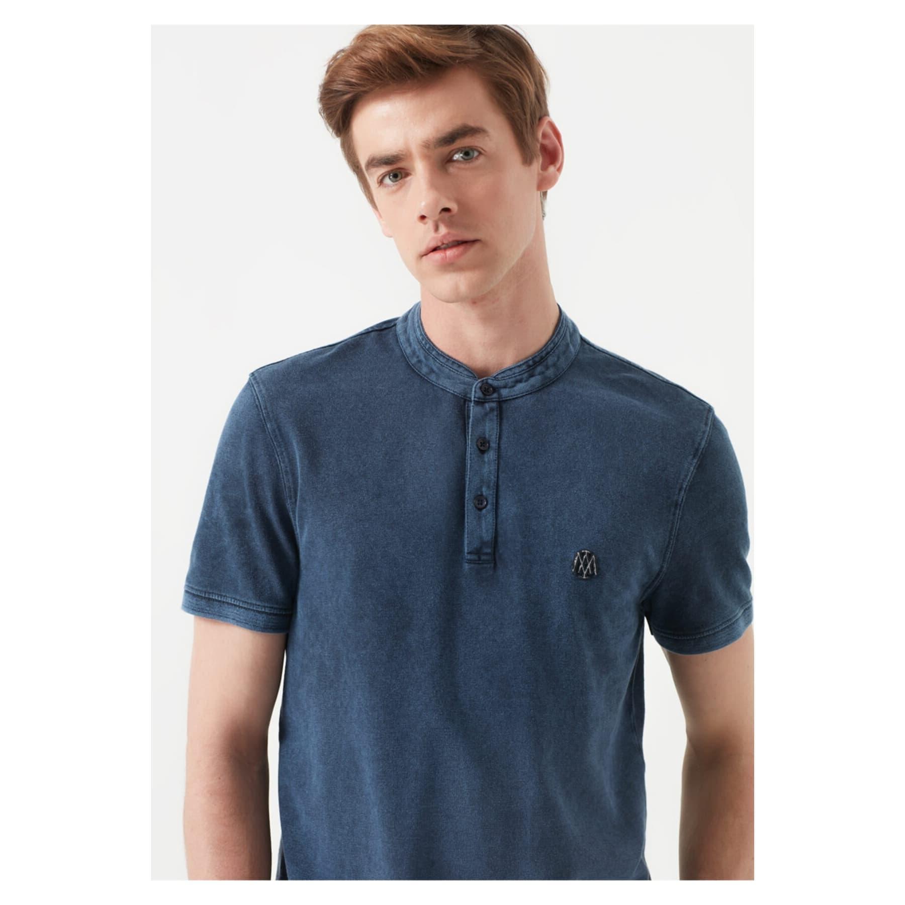 Mavi Jeans Hakim Yaka Erkek Mavi Tişört