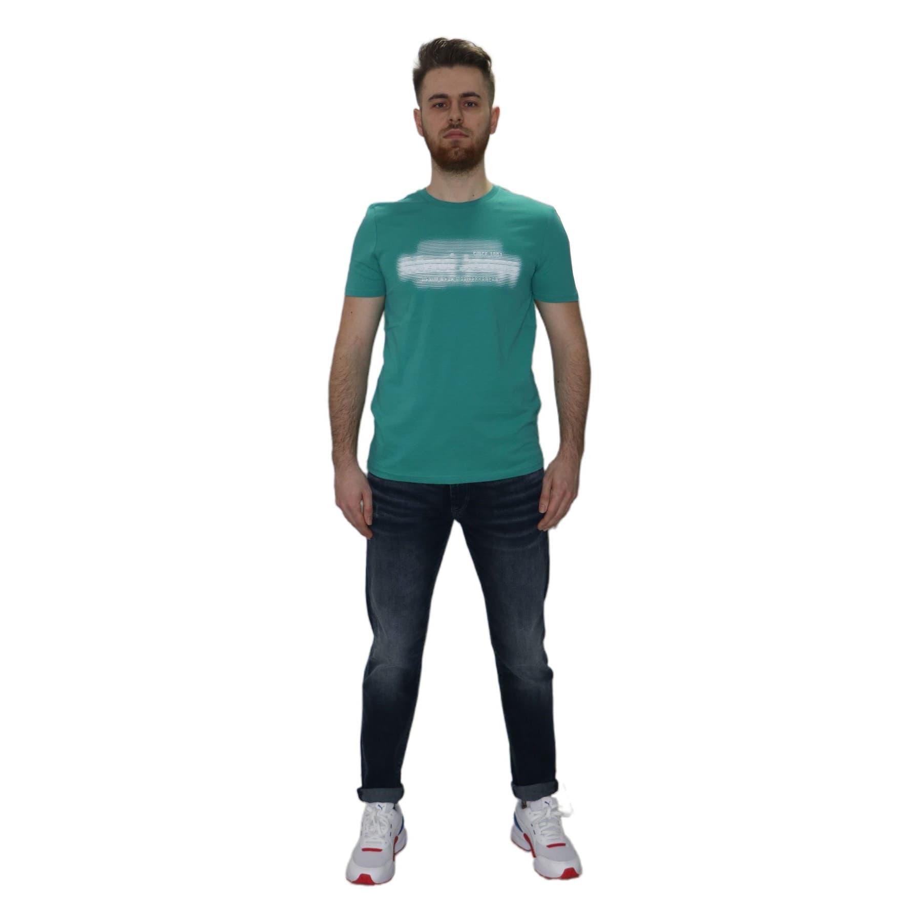 Mavi Jeans Baskılı Erkek Porselen Yeşili Tişört