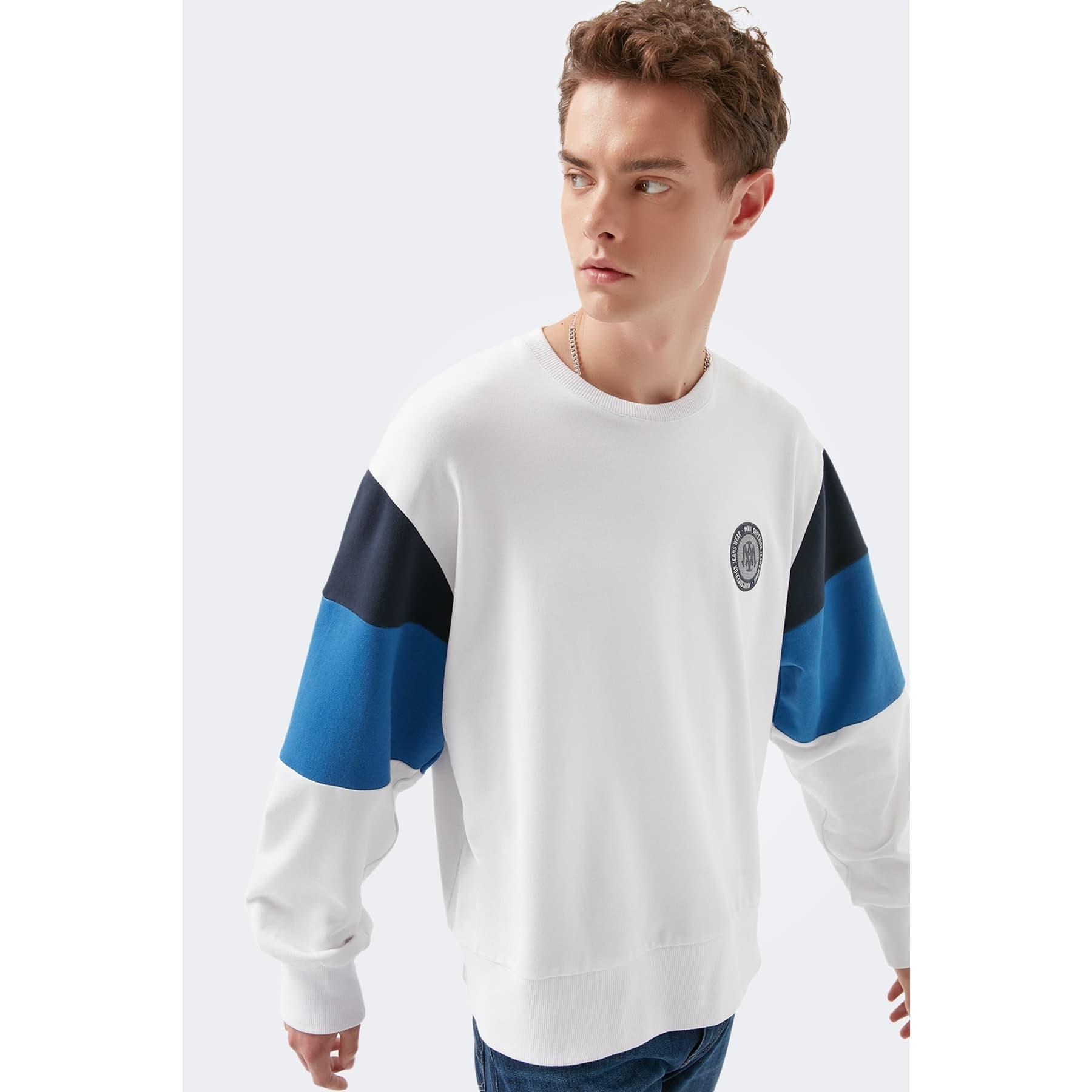Mavi Jeans Blok Renkli Erkek Sweatshirt