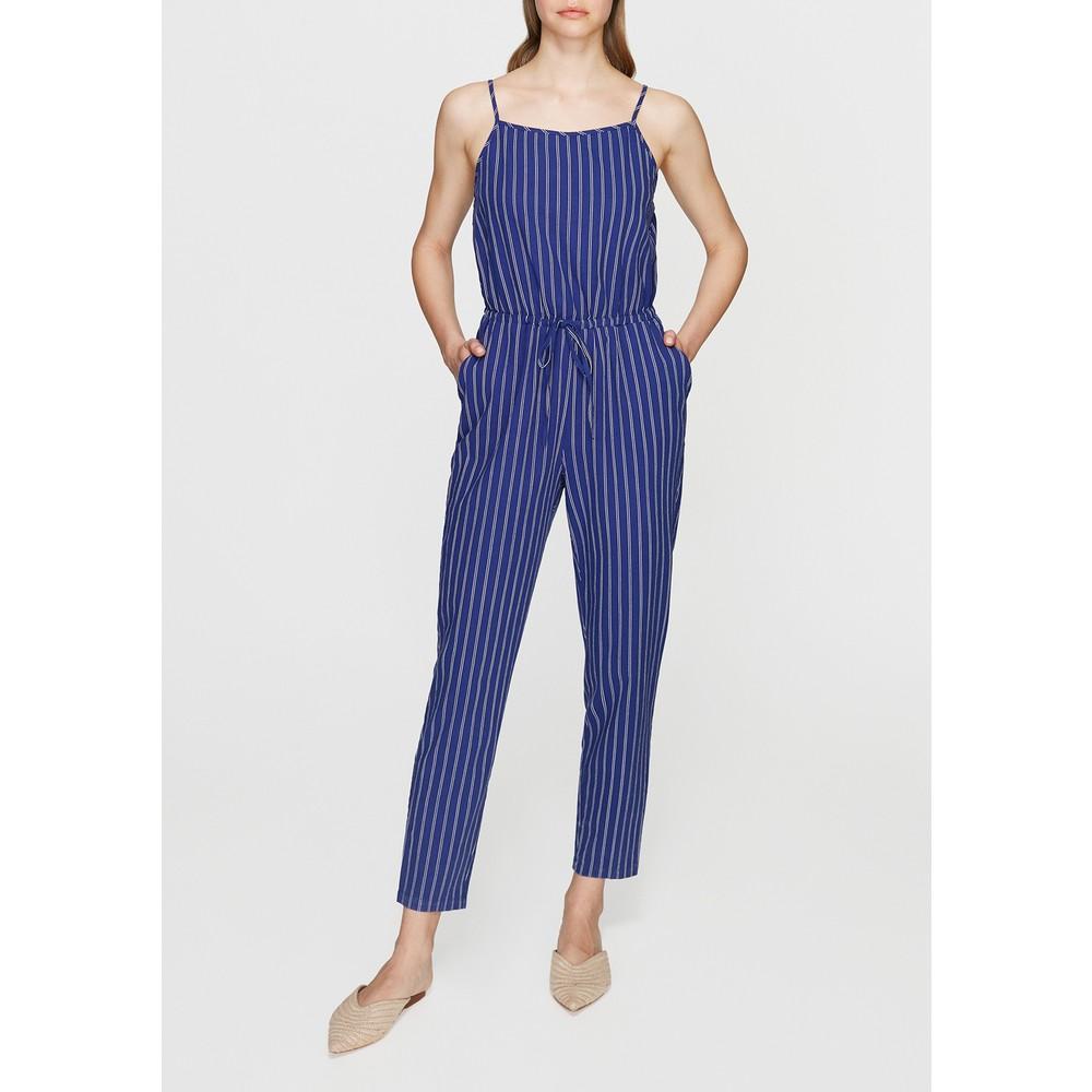 Askılı Mavi Kadın Tulum Elbise