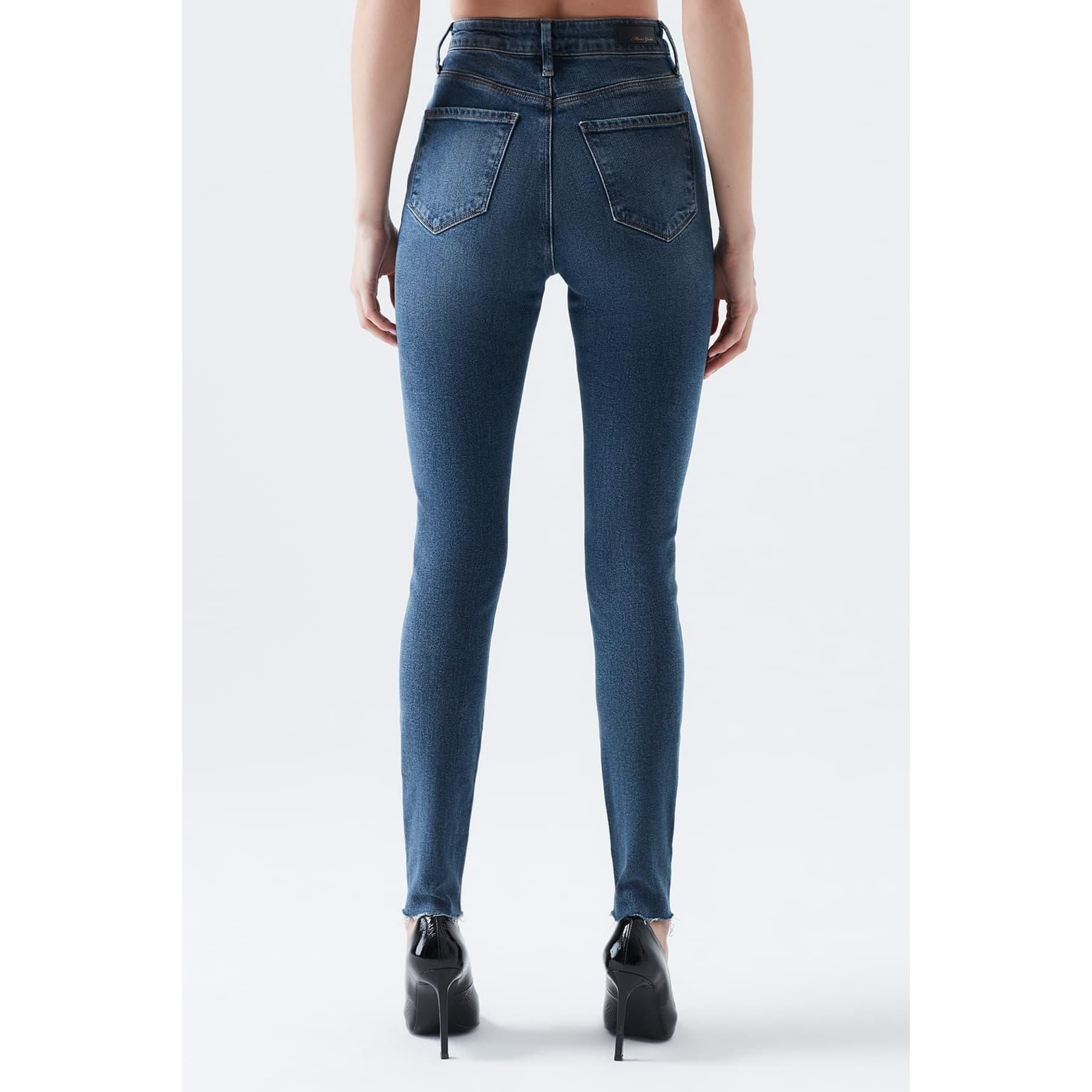 Serenay Gold Icon Kadın Mavi Kot Pantolon