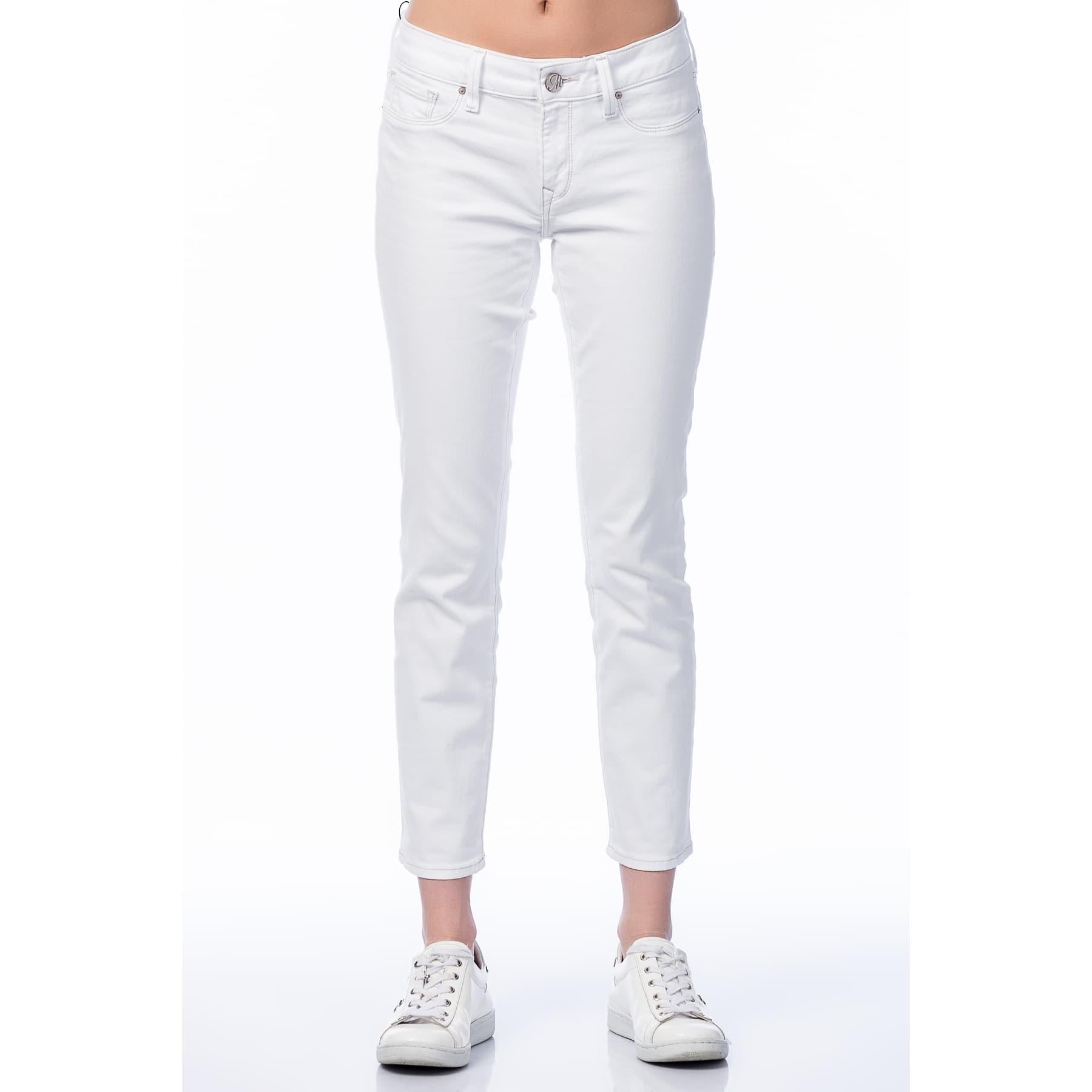 Adriana Ankle Beyaz Skinny Jean Pantolon