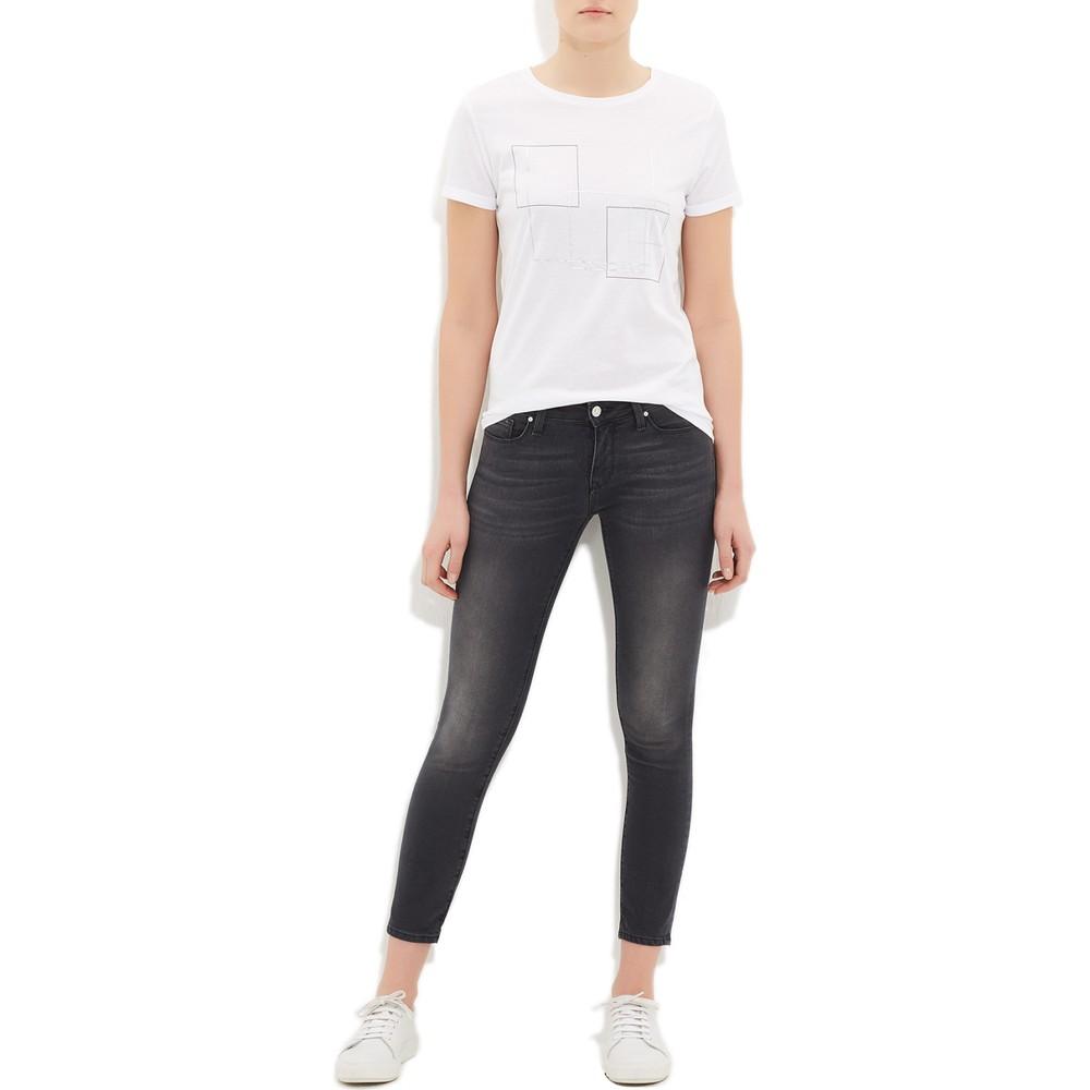 Adriana Ankle Siyah Kadın Eskitme Kot Pantolon