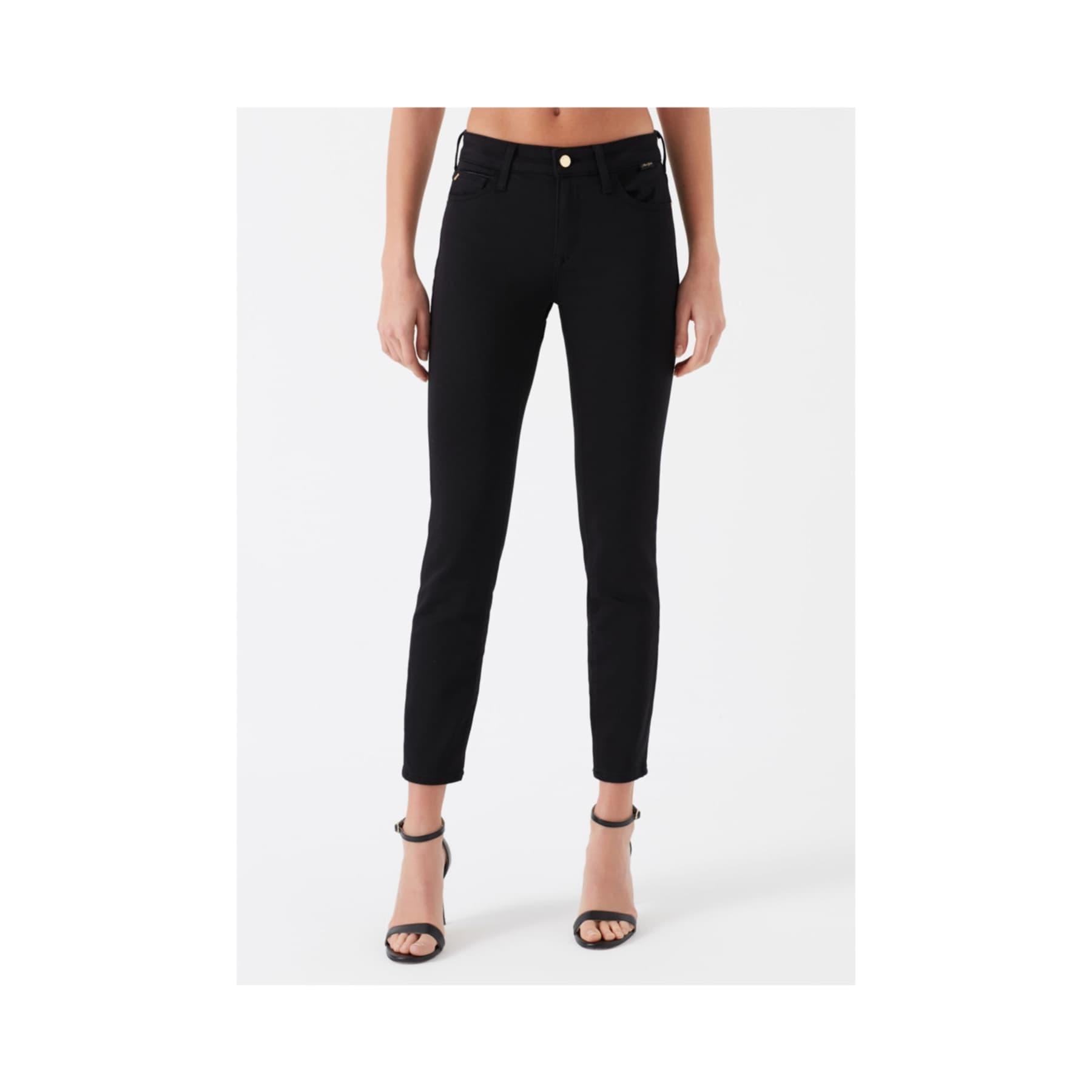 Adriana Ankle Golden Gold Siyah Jean Pantolon