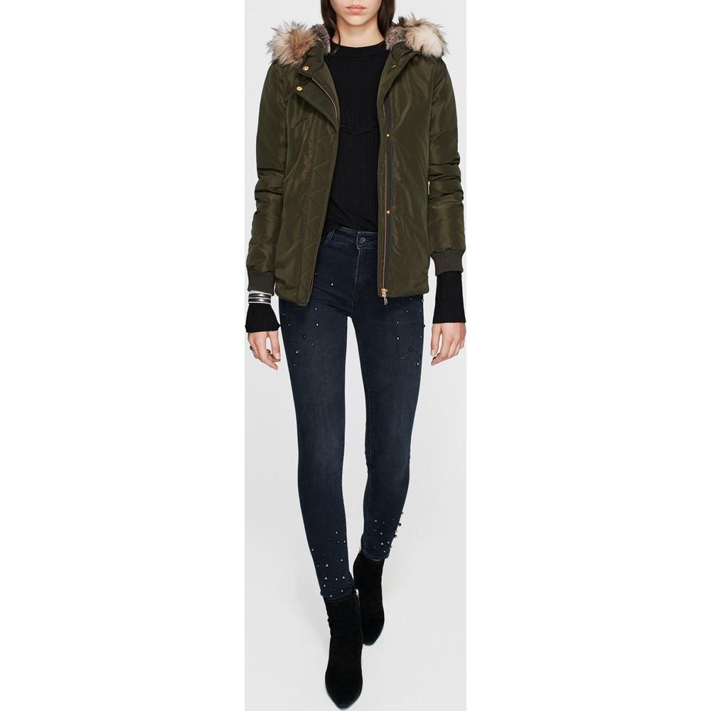 Mavi Jeans Kapüşonlu Kadın Yeşil Mont
