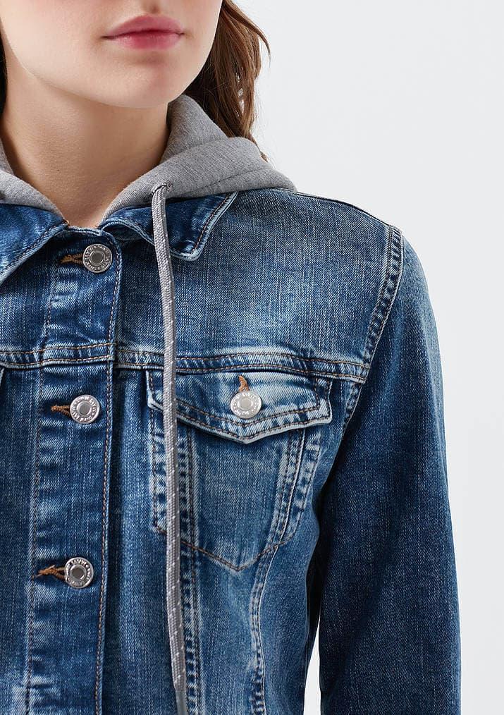 Mavi Jeans Darcy Kadın Gri Jean Ceket