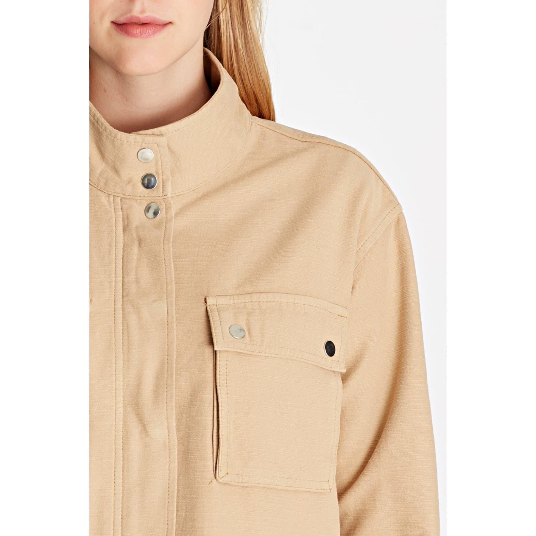 Cepli Bej Kadın Kot Ceket