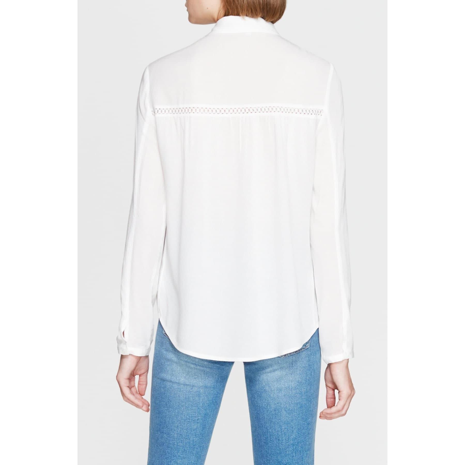 Mavi Jeans Kadın Dantel Detaylı Beyaz Gömlek