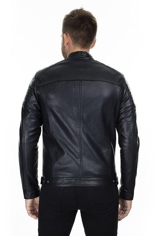 Jcorocky Noos Erkek Siyah Deri Ceket
