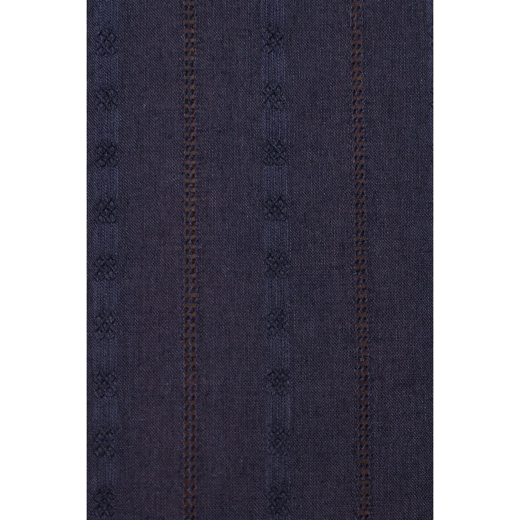 Bağcık Detaylı Mavi Bluz