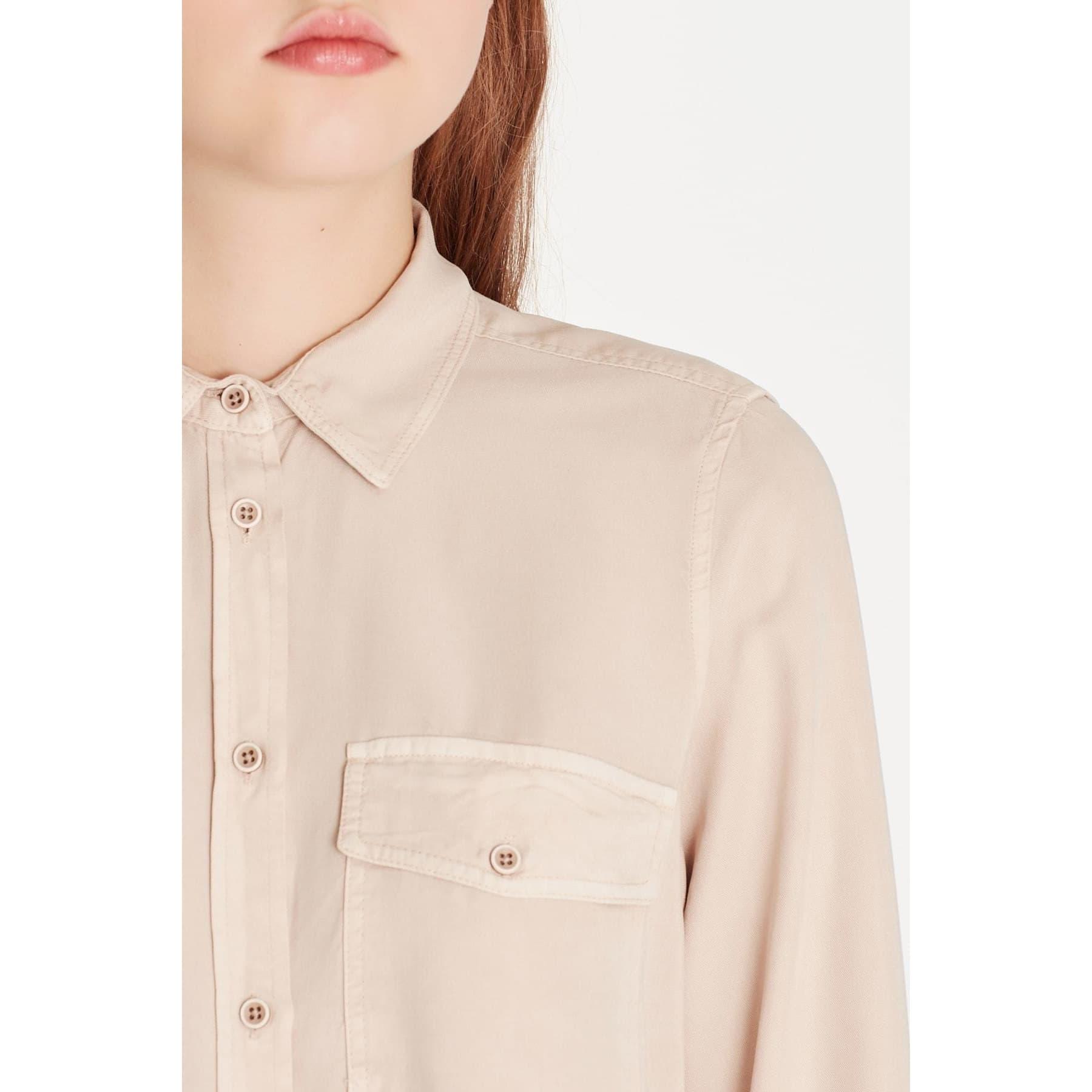 Cepli Bej Kadın Gömlek