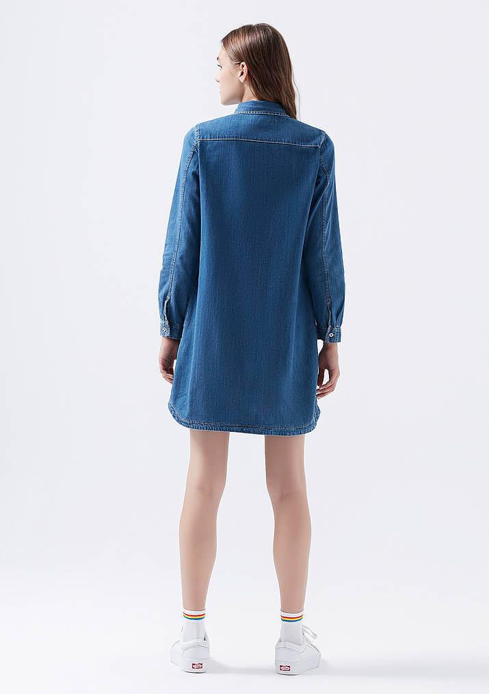 Mavi Jeans Liz Indigo Kadın Kot Elbise