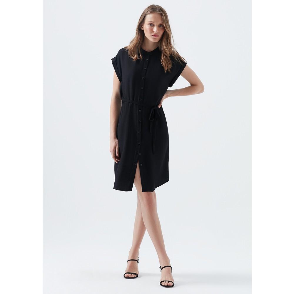 Mavi Jeans Düğmeli Kadın Siyah Elbise