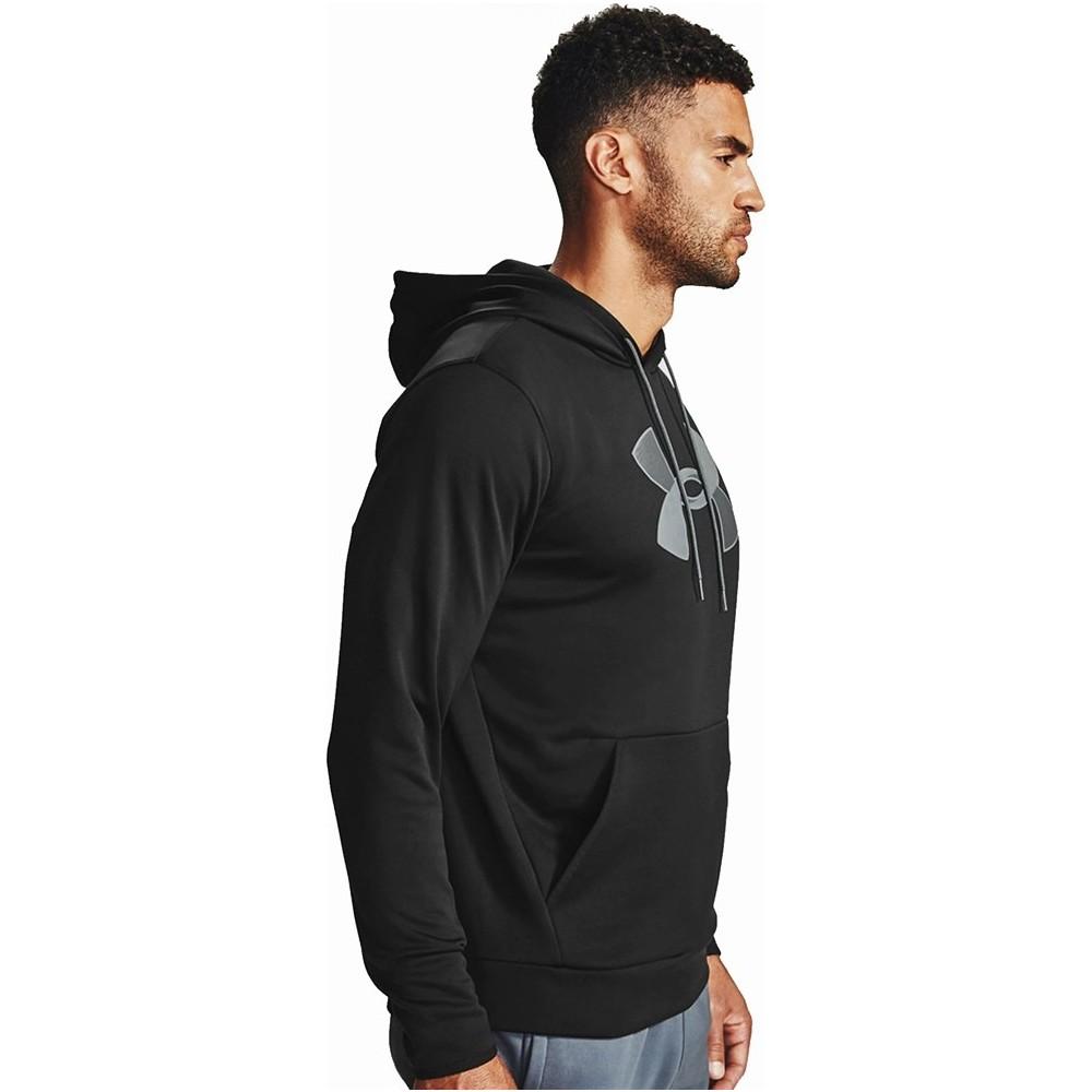 Fleece Big Logo Erkek Siyah Sweatshirt
