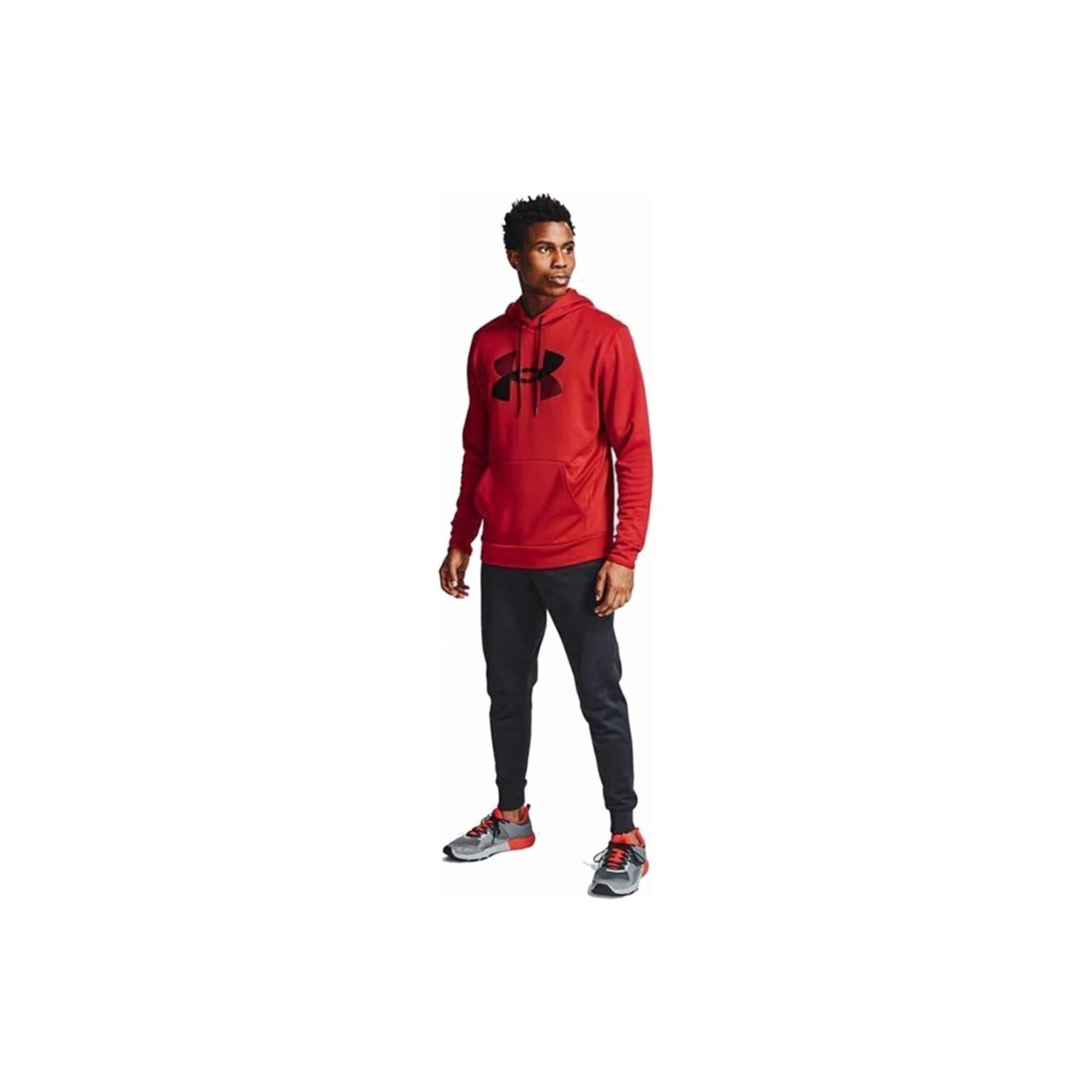 Fleece Big Logo Erkek Kırmızı Sweatshirt