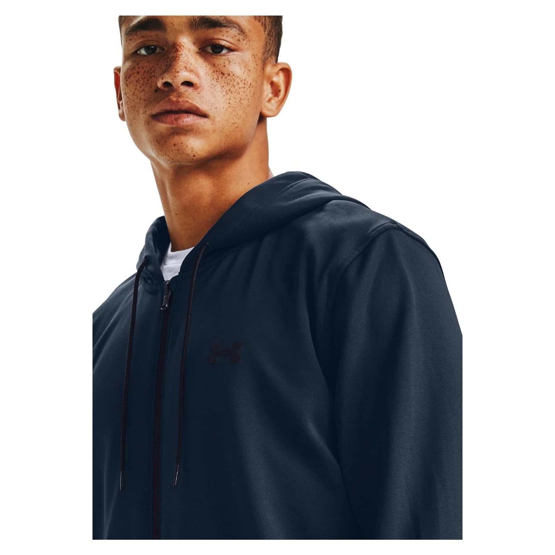 Armour Fleece Big Logo Erkek Mavi Sweatshirt